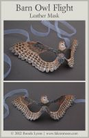 Barn Owl Flight - Leather Mask by windfalcon