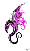 Pink dragon0 by ServantofEntropy