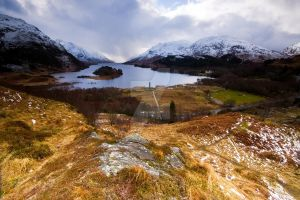 glenfinnan on Loch Shiel by DL-Photography