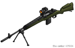 m14 sniper rifle by KRONOMATIK