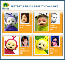 Teletubbies' Look-A-Likes by erikamars