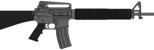 US Army rifle M16A4 by DaltTT