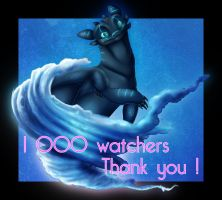 1000 Watchers! by iEro-Lau