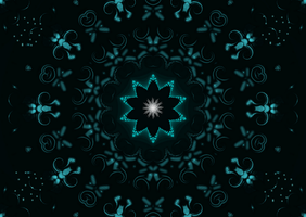 A Fractal Background In Blues And Green by jannied