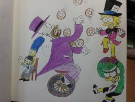 The simpsons:Gotham Circus family! by komi114