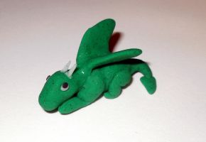 Fimo - Baby Dragon by Twimper