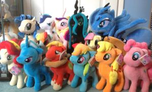My Little Pony Plush Collection by MizukiiMoon