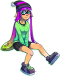 Unnamed Squid Kid by BlueBead