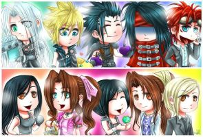 DO NOT FAV- FF7:Chibis by We-Love-Cloud-Club