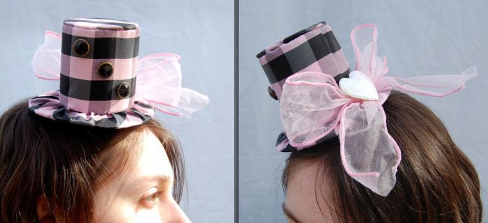 Tiny Top Hat: Pink n' Plaid Cutie by TinyTopHats