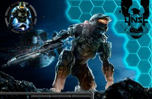 Halo 4 Custom Wallpaper 2 by drayh1985