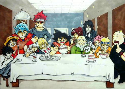 Definitely not the Last Supper by FillyFuxilly