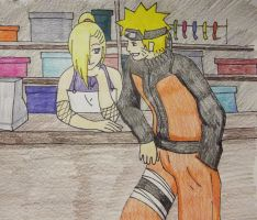 PC- Naruino - Flirting at work by BloodyRiley