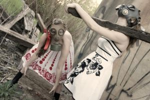The Gas Mask Girls- Lumber by DascocoCosplay