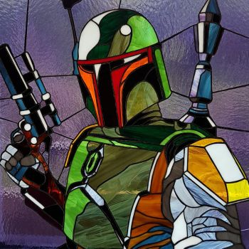 Stained glass picture Boba Fett by Art-Brother
