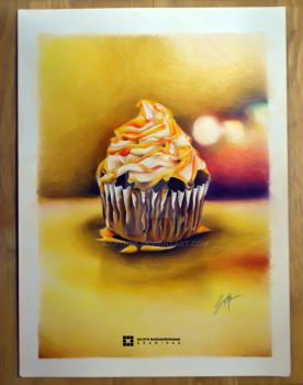 Chocolate Cupcake with Caramel Frosting by sujithrk