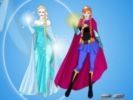 Frozen Sisters by LadyAquanine73551
