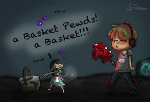 A Basket Pewds! by curiousGriffin