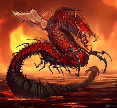 Hell-Worm by Davesrightmind