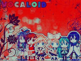 Vocaloid -- Wallpaper -- 1 by BloodyApple23