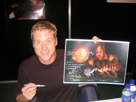 Alan Tudyk and Painting by jeminabox