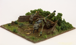 1/72 scale Panzerabwher Kanone PaK 40 emplacement by Nixod321