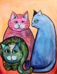 Colorful Cats in Portrait 1 by jenthestrawberry