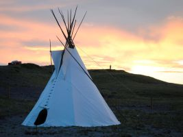 Teepee Sunset by morbiusx33