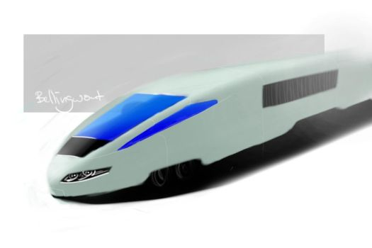 High speed train by crazy-croco