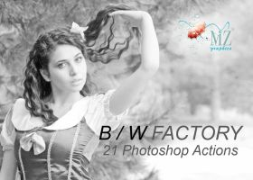 BW FACTORY ACTIONS PHOTOSHOP by MarioZitelloGraphics