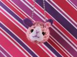 Amigurumi Pink and Purple Bunny Keychain by AmiTownCreatures