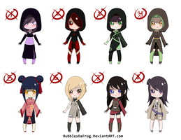Naruto OC Adoptables 3 [CLOSED] by BubblesTea