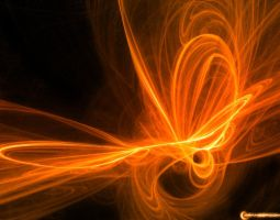 Orange Fractal wallpaper by OrangeRoom