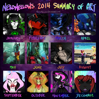 NekoMellow's 2014 Summary Of Art by NekoMellow