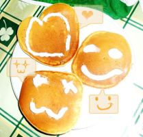 Pancake Art- Smiles by AlyssaRyan