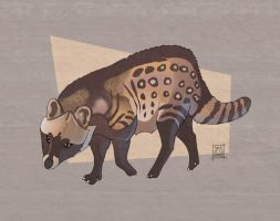 African Civet by sighthoundlady