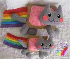 nyan cat plush by chocoloverx3