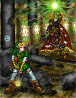 Link vs. Ganondorf by DaRkFaiRy314