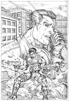 PUNISHER POSTER - PENCILS by DSNG