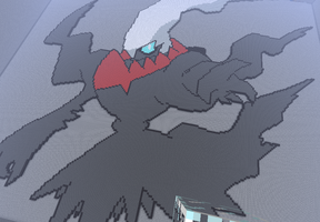 Darkrai - Minecraft Pixelart by SophisticatedCreeper