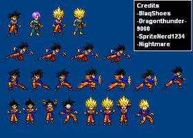 Goten and Trunks Sprite sheet WIP by BlaqShoes