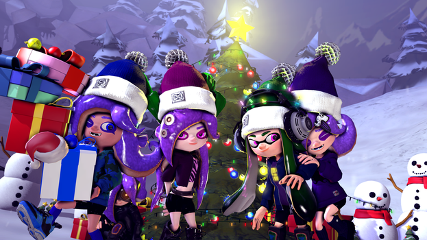 Merry Squid/Octo-Mas (Christmas 2016) by Poool157