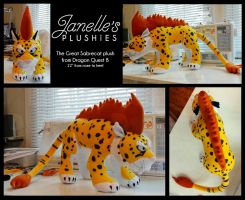 Great Sabrecat plush from Dragon Quest 8 by JanellesPlushies