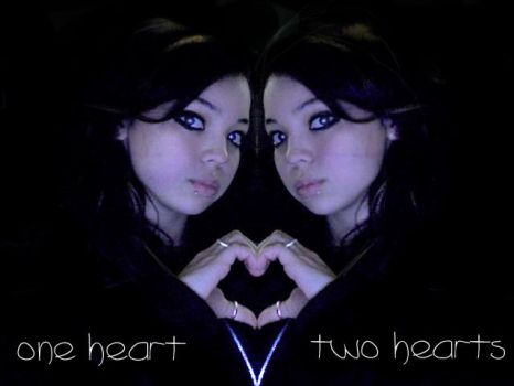 One heart Two hearts by Tortie-Kittin