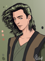 Zoom in on Loki cause I'm proud of his hair by MellorianJ