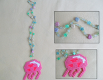 Spongebob Jellyfish Bead Sprite Necklace by Hermine456