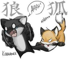 Wolf n Fox Kanji by Master-of-Thoughts