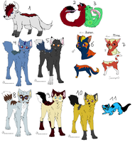 Old OC's /Characters I don't need anymore by LizzysAdopts