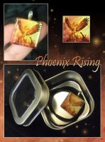 Glass Pendant - Phoenix Rising by neondragon
