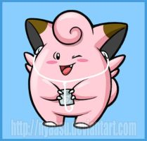 Clefairy with iPod